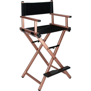 29 In. Rose Gold Aluminum Director Chair (VCH001-105)