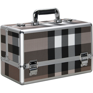 Stripe 6-Tiers Accordion Trays Professional Cosmetic Makeup Train Case (VP001-612)