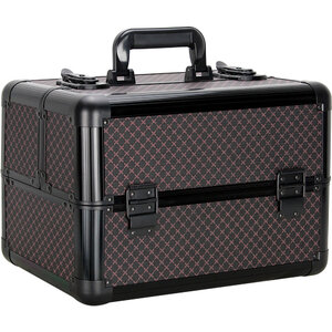 Diamond 4 Extendable Trays Professional Cosmetic Makeup Case With Dividers (VP006-81)