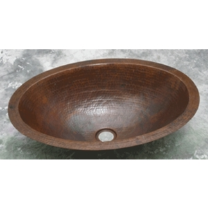Copper Bath Oval Sink by Pure Spa Copper Elements