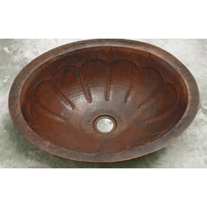 Copper Bath Wide Oval-Pumpkin Sink-Limited Quantities Available! by Pure Spa Copper Elements