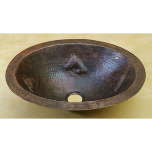 Copper Bath Oval Sink Basin-Horse Head-Limited Quantities Available! by Pure Spa Copper Elements
