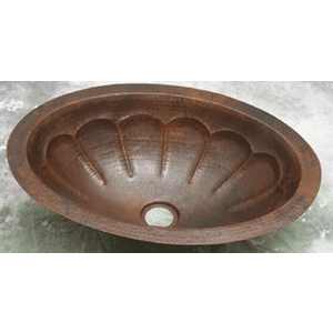 Copper Bath Oval Sink Basin by Pure Spa Copper Elements