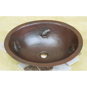 Large Oval Bath Sink-Frog-Limited Quantities Available! by Pure Spa Copper Elements