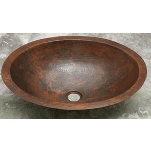 Copper Wide Oval Bath Sink Basin by Pure Spa Copper Elements