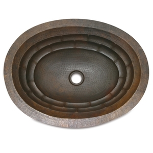 Large Wide Oval Bath Sink-Tortoise-Limited Quantities Available! by Pure Spa Copper Elements