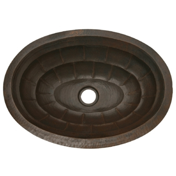 Copper Bath Oval Sink Basin-Tortoise by Pure Spa Copper Elements