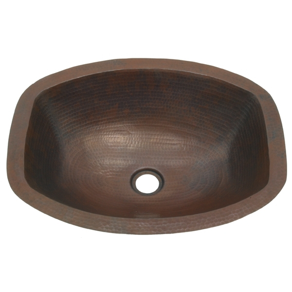 Copper Bath Oval with Flat Sides Sink by Pure Spa Copper Elements