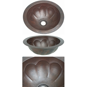 Copper Bath Round-Pumpkin Sink-Limited Quantities Available! by Pure Spa Copper Elements