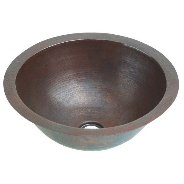 Copper Bath Round Lavatory Sink by Pure Spa Copper Elements