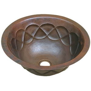 Copper Bath Round-Tear Drop Sink by Pure Spa Copper Elements