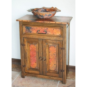 Rustic Vanity with Copper Accents by Pure Spa Copper Elements