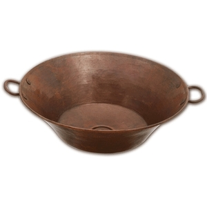 Copper Sink Cazo Vessel Sink w Handles by Pure Spa Copper Elements
