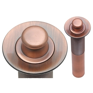 Lift n' Turn Lavatory Drain by Pure Spa Copper Elements