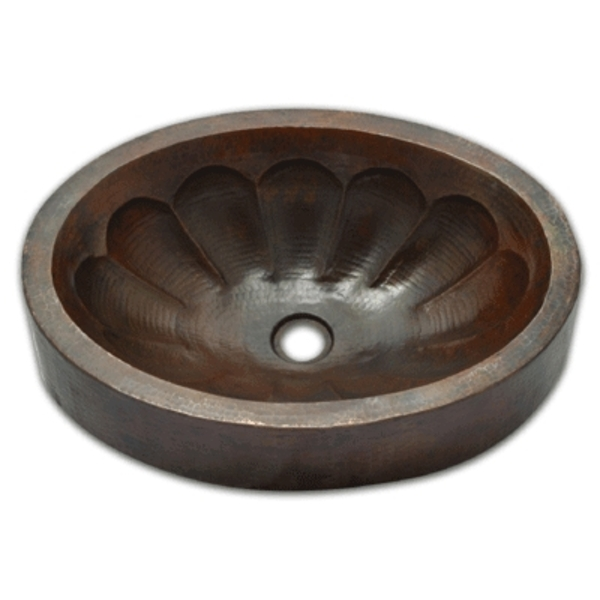 Copper Bath Oval Double Wall Vessel Sink: Pumpkin by Pure Spa Copper Elements