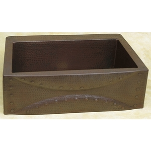 Copper Kitchen Sink Designer Front by Pure Spa Copper Elements