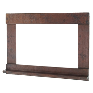 Rectangle Copper Frame with Small Shelf Design by Pure Spa Copper Elements
