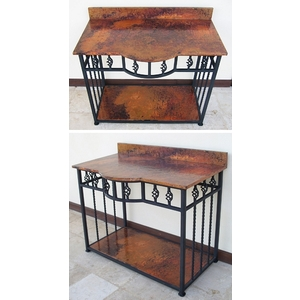 Iron Bath Vanity with Copper Top by Pure Spa Copper Elements