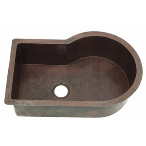 Copper Nautilus Kitchen Sink-Single Bowl LARGE by Pure Spa Copper Elements
