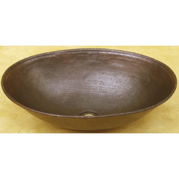 Copper Oval Vessel Sink by Pure Spa Copper Elements