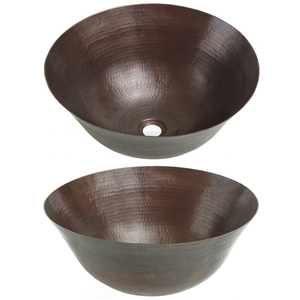Copper Vessel Sink-Dark by Pure Spa Copper Elements