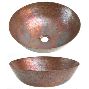 Copper Natural Fire Mini Vessel by Pure Spa Copper Elements