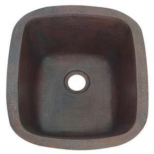 Copper Bar Prep Sink Rectangle by Pure Spa Copper Elements