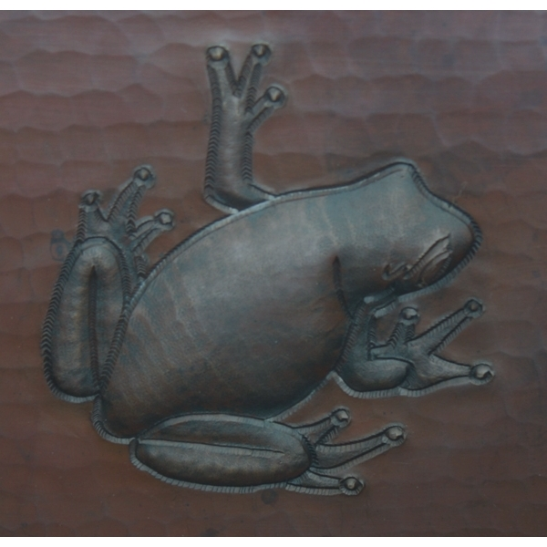 Copper Square BarPrep Sink-Frog by Pure Spa Copper Elements