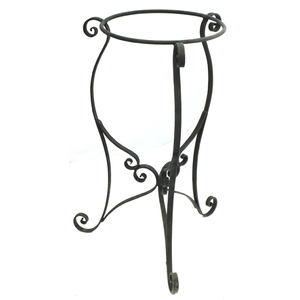 Wrought Iron Copper Sink Stand-Black by Pure Spa Copper Elements