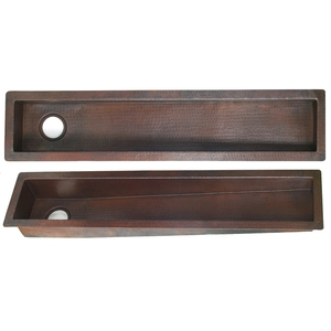 Copper TroughPrep Sink by Pure Spa Copper Elements
