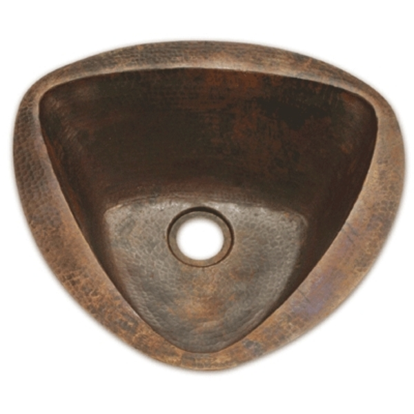 Copper Bar Sink Triangle Sink by Pure Spa Copper Elements