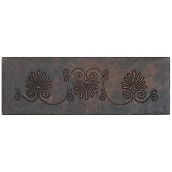 "2""x 6"" Copper Tile Liner-Fernale by Pure Spa Copper Elements"