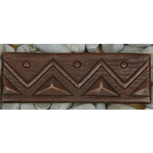 "2""x 6"" Copper Tile Liner-Triangle by Pure Spa Copper Elements"