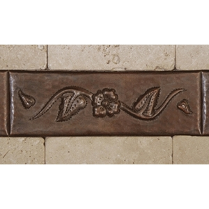 Floral Copper Tile Liner by Pure Spa Copper Elements