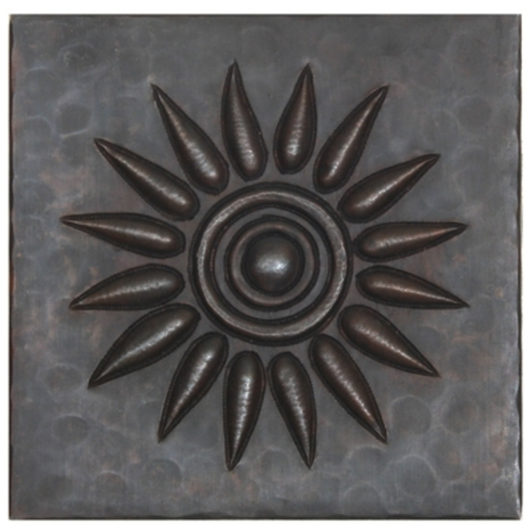 Sun Burst Copper Tile by Pure Spa Copper Elements
