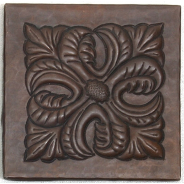 Leaf Medallion Copper Tile by Pure Spa Copper Elements