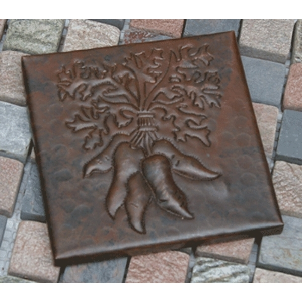 Carrot Bunch Copper Tile by Pure Spa Copper Elements
