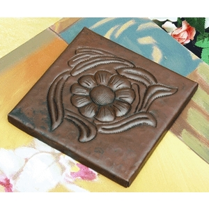 Floral Copper Tile by Pure Spa Copper Elements