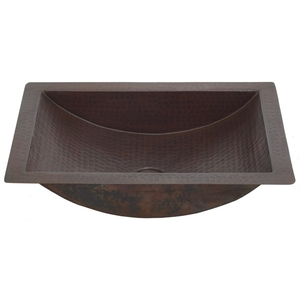 Copper Trough Sink for the Bath by Pure Spa Copper Elements