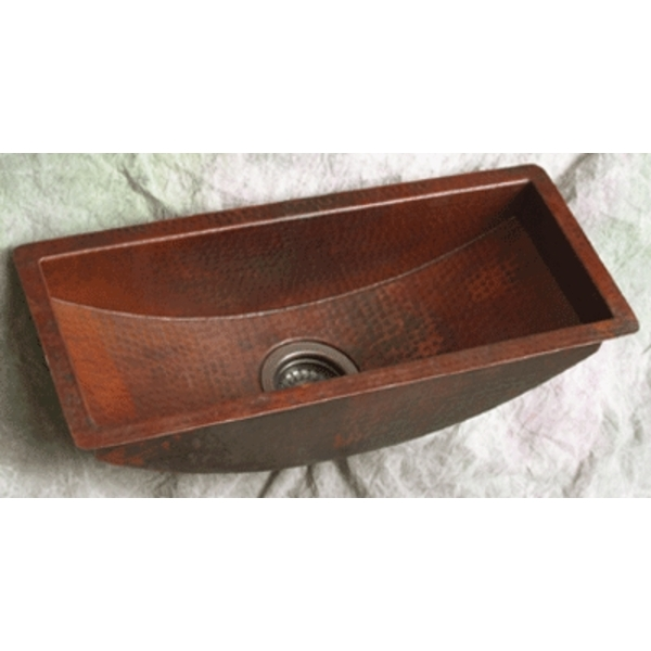 Copper TroughKitchen Prep Sink by Pure Spa Copper Elements