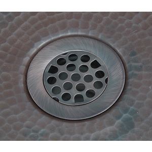 "Bar Drain 2"" Grid Drain Strainer by Pure Spa Copper Elements"