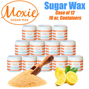 Moxie Sugar - Sugaring Wax Paste - 100% Natural 1 Small Case = 16 oz. X 12 Jars ()