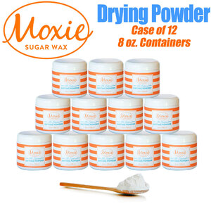 Moxie Sugar - Sugaring Drying Powder 1 Small Case = 8 oz. X 12 Jars ()