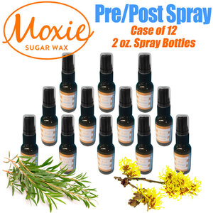 Moxie Sugar - Sugaring Pre-Cleanser - Post Soothing Spray 1 Small Case = 2 oz. X 12 Spray Bottles ()