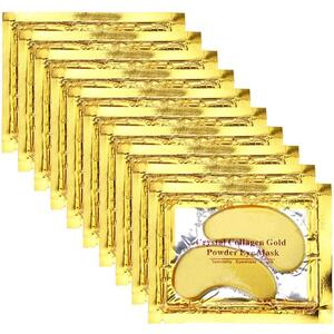 Professional 24k Gold Collagen Gel Under Eye Mask - Cooling Collagen Eye Pads for Puffy Eye Dark Circles Wrinkles Eye Bags and Anti-Aging Case of 20 Pairs ()