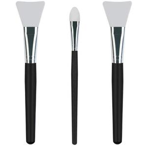 Premium Quality Silicone Face Mask Brushes - Ideal Facial Mask Applicators for Mud Clay Charcoal Mixed Masks and Body Lotion Set of 3 - 2 Styles ()