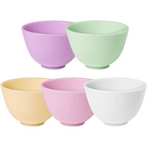 "Silicone Facial Mask Mixing Bowls - 4.1"" Diameter X 2.8"" Tall Set of 5 ()"