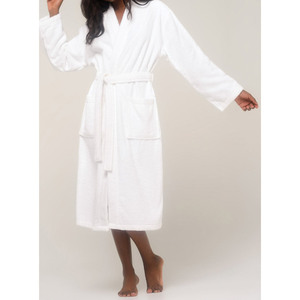 Unisex Terry Kimono Bathrobe | Color: White | Material: 100% Turkish Cotton | Available Sizes: SmallMedium LargeX-Large XX-Large (4020WHT)