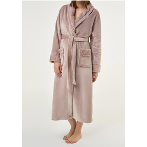 Women's Plush Soft Warm Fleece Robe | Color: Blush Pink | Material: 100% Polyester Warm Fleece | Available Sizes: S M L XL XXL (6100PPNK)