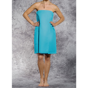 Woman's Waffle Spa Wrap - Bath Wrap | Color: Turquoise | Material: 65% Natural Cotton 35% Polyester | Available Sizes: SmallMedium Large XXL (BW7083TUR)
